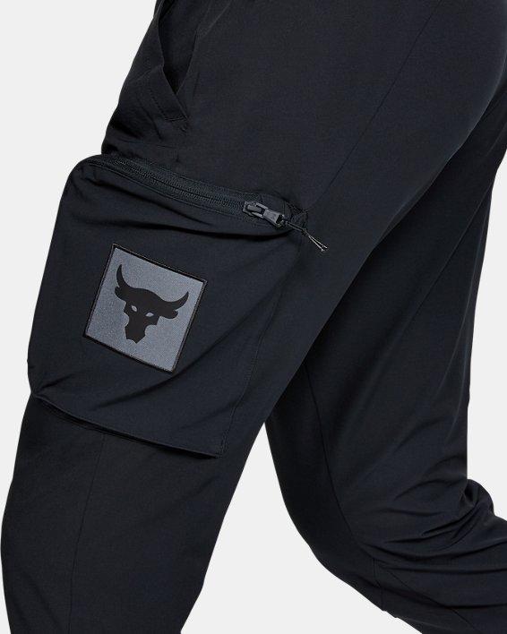 Men's Project Rock Woven Cargo Pants, Black, pdpMainDesktop image number 3