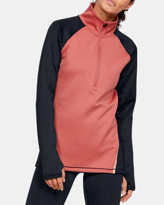 Under Armour Womens Sports Tech 1//2 Zip Colour Block Long Sleeve Pullover Top