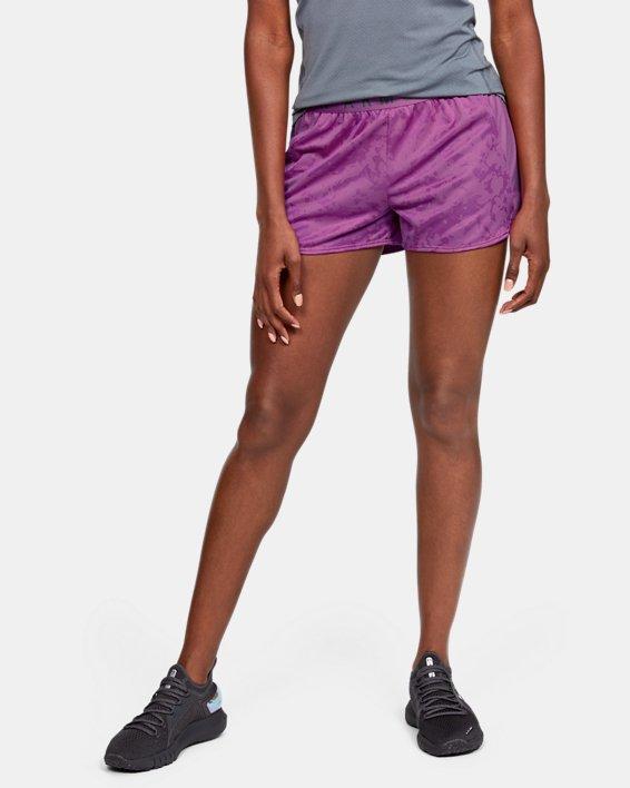 Women's UA Play Up Jacquard Shorts, Purple, pdpMainDesktop image number 0