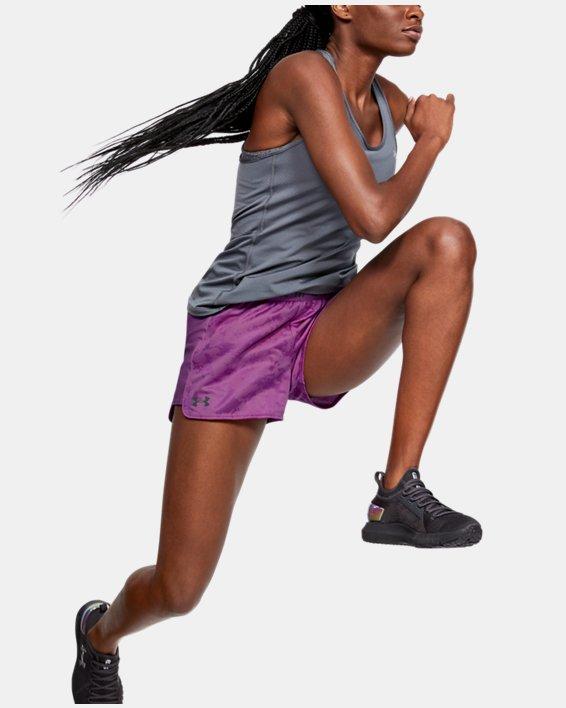 Women's UA Play Up Jacquard Shorts, Purple, pdpMainDesktop image number 1