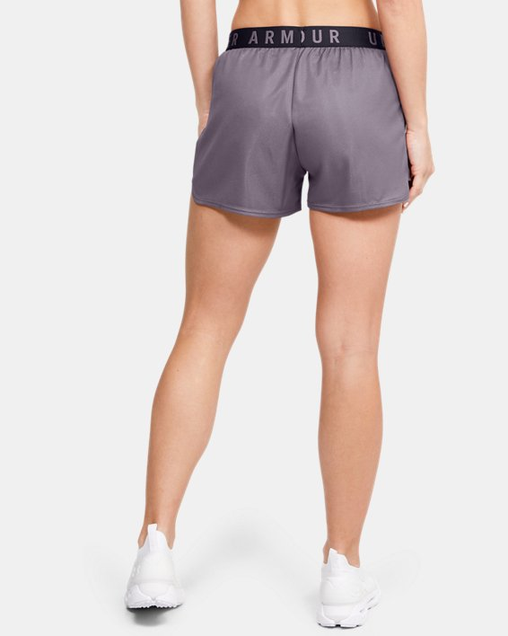 Women's UA Play Up Metallic Shorts, Gray, pdpMainDesktop image number 2
