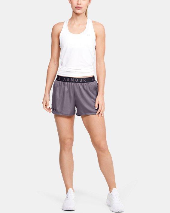 Women's UA Play Up Metallic Shorts, Gray, pdpMainDesktop image number 0