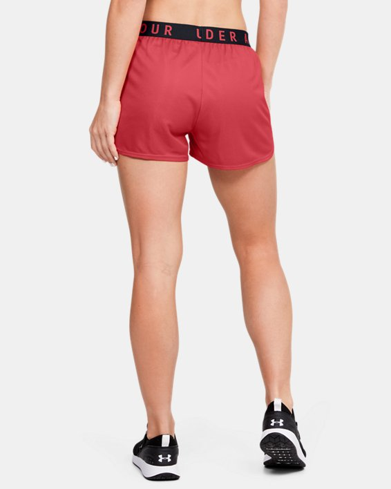 Women's UA Play Up Metallic Shorts, Orange, pdpMainDesktop image number 2