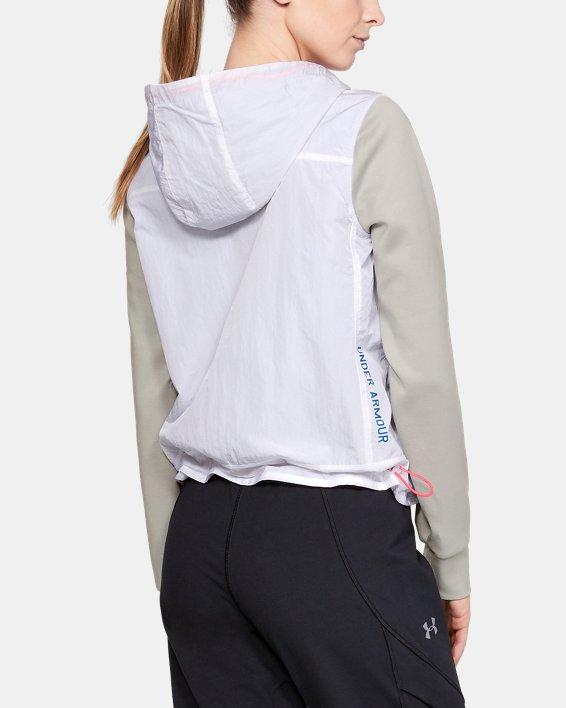 Women's UA Always On Recovery Swacket, White, pdpMainDesktop image number 2