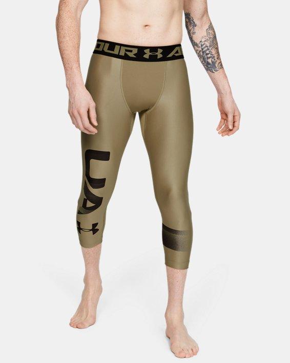 Leggings HeatGear® Armour Graphic 3/4 pour homme, Green, pdpMainDesktop image number 0