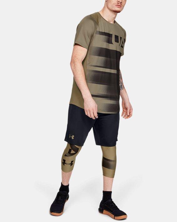 Leggings HeatGear® Armour Graphic 3/4 pour homme, Green, pdpMainDesktop image number 1