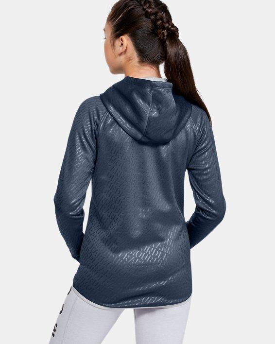 Girls' Armour Fleece® Emboss Hoodie, Gray, pdpMainDesktop image number 2