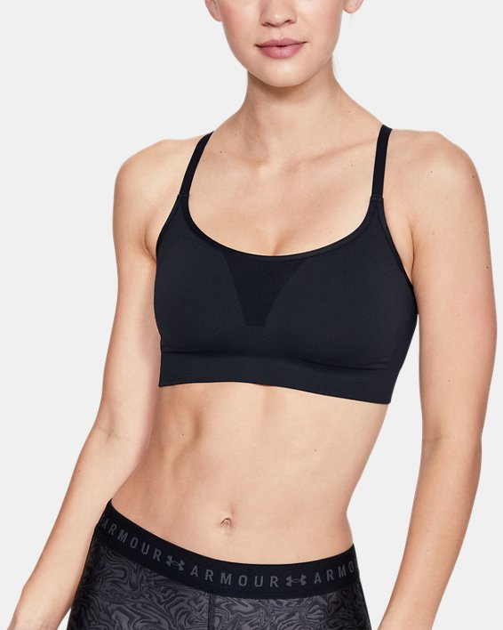 Women's UA Vanish Seamless Essentials Sports Bra, Black, pdpMainDesktop image number 0