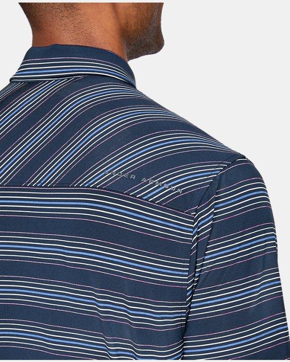 Men's UA Playoff Stripe Polo, Navy, pdpMainDesktop image number 5