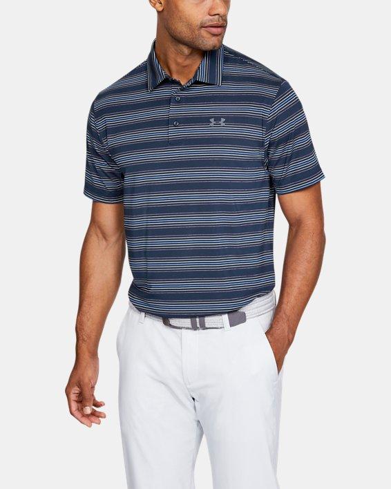 Men's UA Playoff Stripe Polo, Navy, pdpMainDesktop image number 0