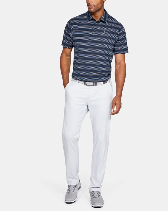 Men's UA Playoff Stripe Polo, Navy, pdpMainDesktop image number 1