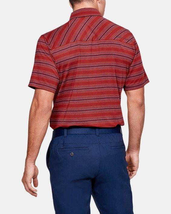 Men's UA Playoff Stripe Polo, Red, pdpMainDesktop image number 2