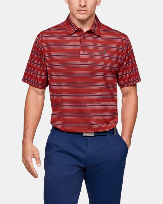 Men's UA Playoff Stripe Polo, Red, pdpMainDesktop image number 0