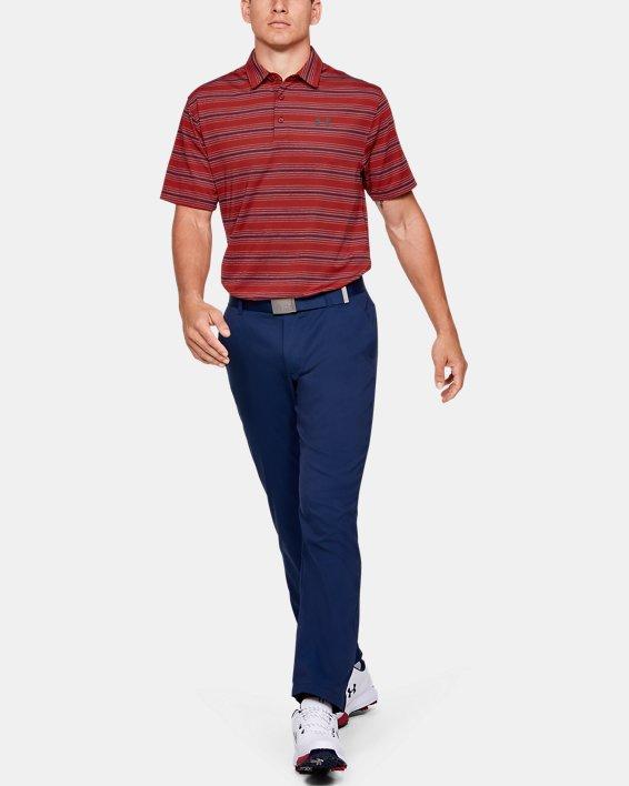 Men's UA Playoff Stripe Polo, Red, pdpMainDesktop image number 1