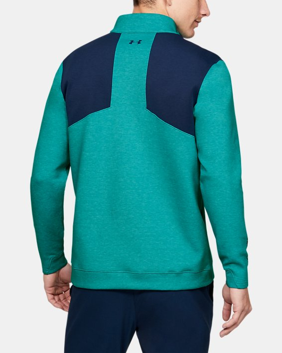 Men's UA Storm Playoff ½ Zip, Green, pdpMainDesktop image number 2