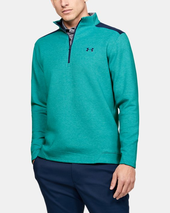 Men's UA Storm Playoff ½ Zip, Green, pdpMainDesktop image number 0