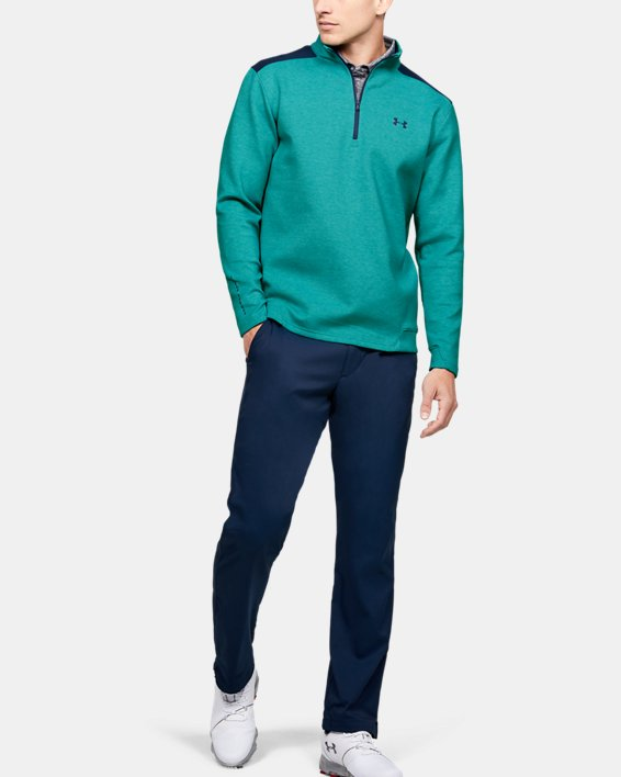Men's UA Storm Playoff ½ Zip, Green, pdpMainDesktop image number 1