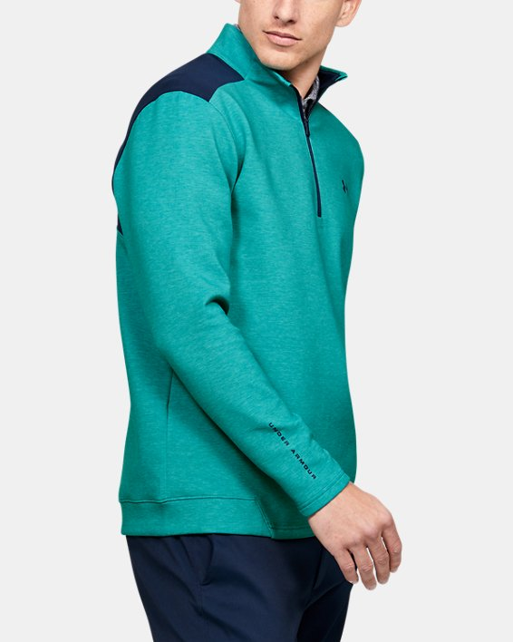 Men's UA Storm Playoff ½ Zip, Green, pdpMainDesktop image number 3
