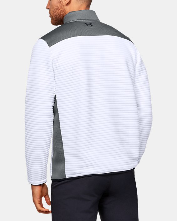 Men's UA Storm Daytona ½ Zip, White, pdpMainDesktop image number 2