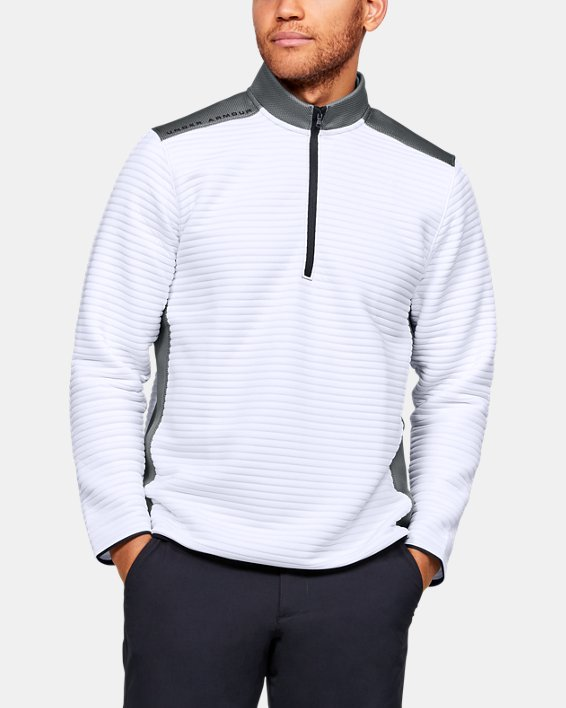 Men's UA Storm Daytona ½ Zip, White, pdpMainDesktop image number 0