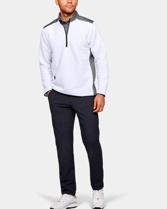 Men's UA Storm Daytona ½ Zip, White, pdpMainDesktop image number 1