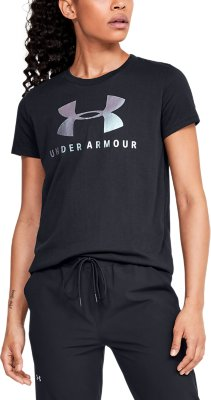 Choose SZ//Color Under Armour Women/'s Graphic Sportstyle Classic Crew