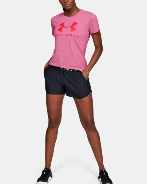 Women's UA Graphic Sportstyle Classic Crew, Pink, pdpMainDesktop image number 1