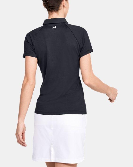 Women's UA Zinger Polo, Black, pdpMainDesktop image number 2