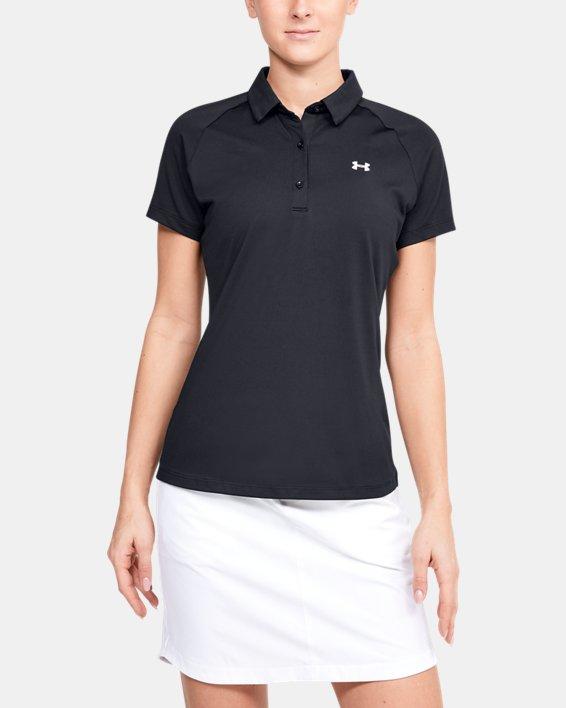 Women's UA Zinger Polo, Black, pdpMainDesktop image number 0