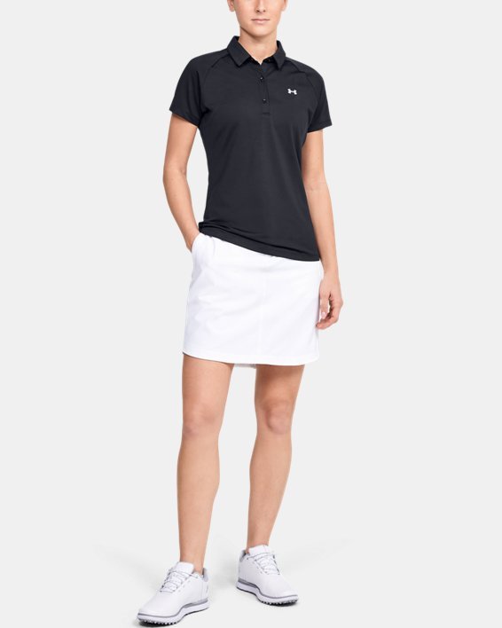 Women's UA Zinger Polo, Black, pdpMainDesktop image number 1