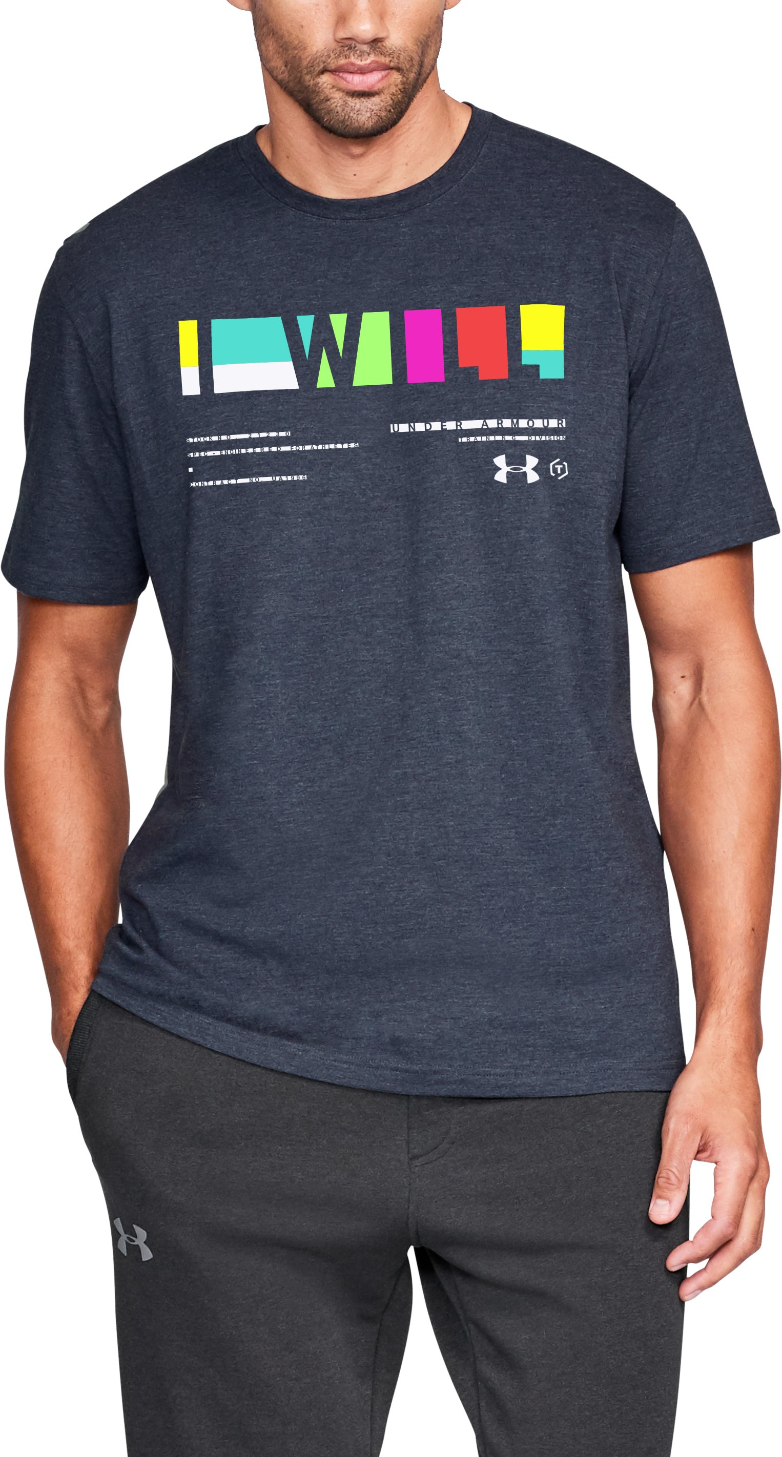 Men's UA I Will Multi Short Sleeve, Academy, zoomed