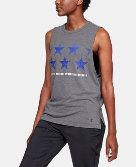 Women's UA Stars Muscle Tank  1  Color Available $30