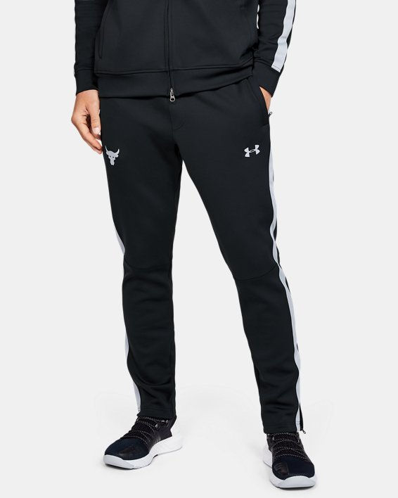 Men's Project Rock Track Pants, Black, pdpMainDesktop image number 0
