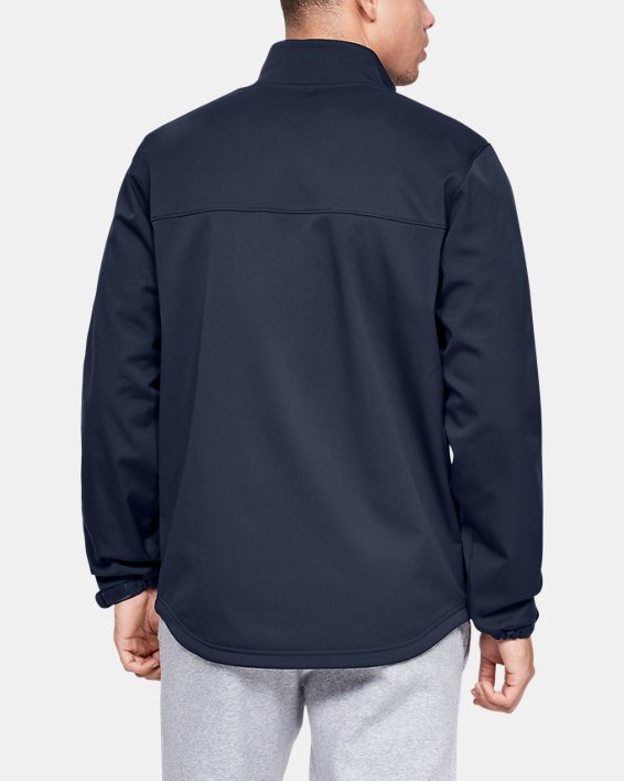 Men's UA Hockey Softshell Jacket, Navy, pdpMainDesktop image number 2