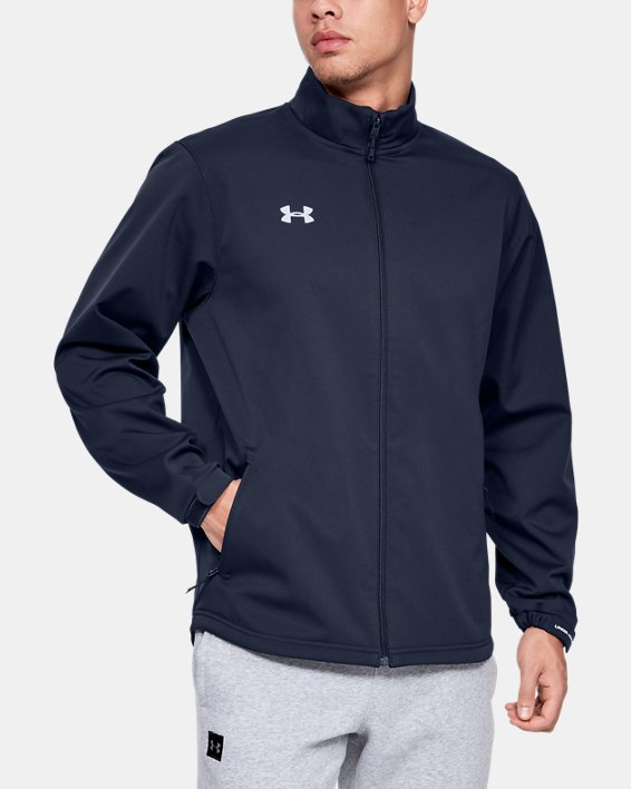 Men's UA Hockey Softshell Jacket, Navy, pdpMainDesktop image number 1