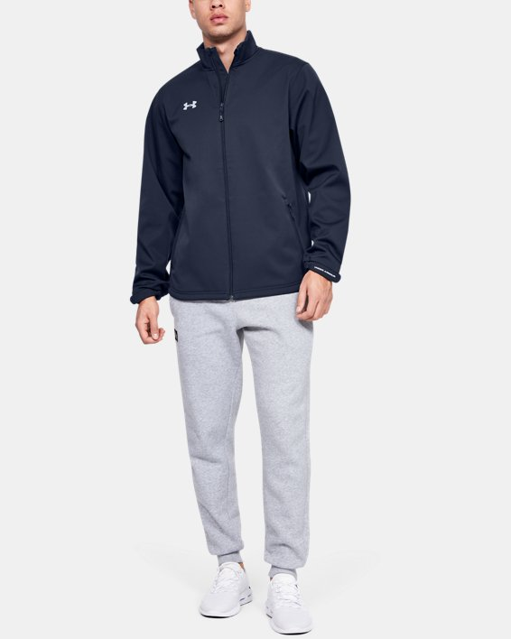 Men's UA Hockey Softshell Jacket, Navy, pdpMainDesktop image number 0