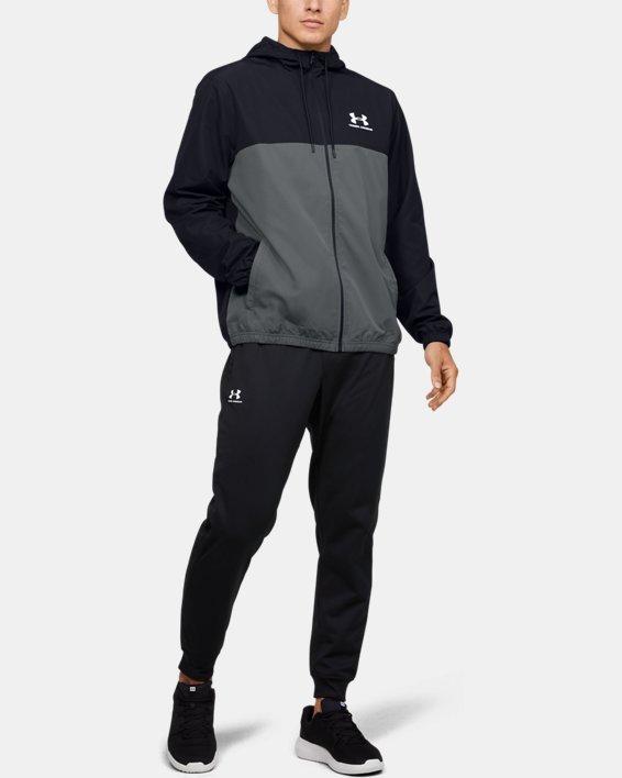 Men's UA Sportstyle Windbreaker Jacket, Black, pdpMainDesktop image number 1