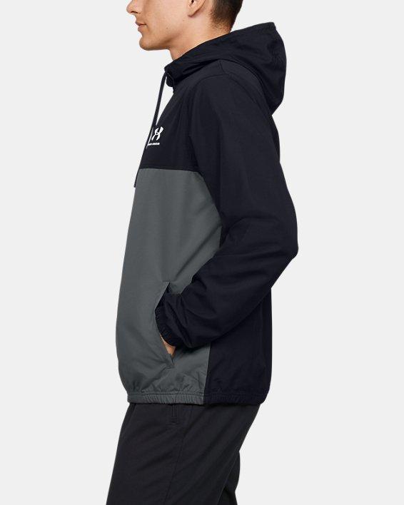 Men's UA Sportstyle Windbreaker Jacket, Black, pdpMainDesktop image number 3