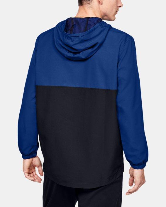 Men's UA Sportstyle Wind Anorak, Blue, pdpMainDesktop image number 2