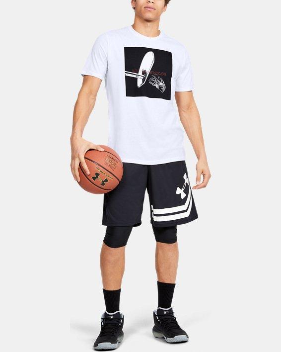 Men's UA Shot Maker T-Shirt, White, pdpMainDesktop image number 1