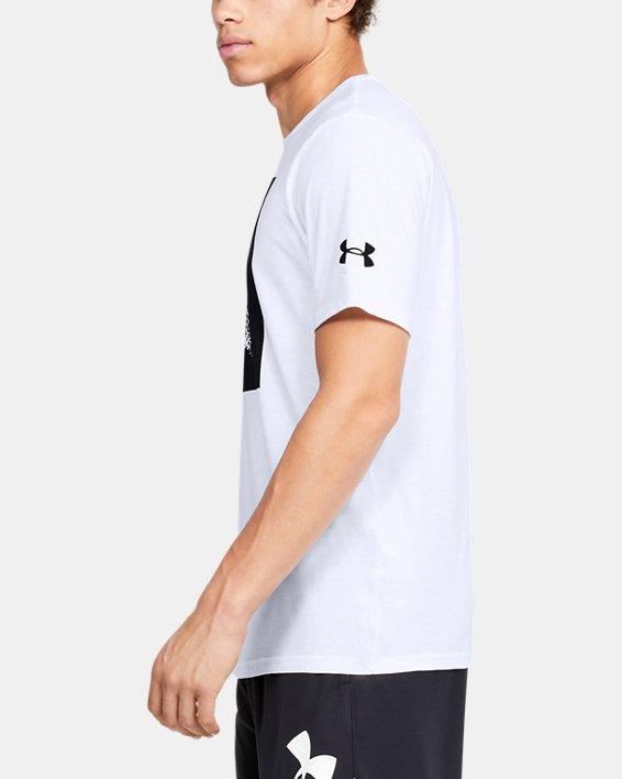 Men's UA Shot Maker T-Shirt, White, pdpMainDesktop image number 3