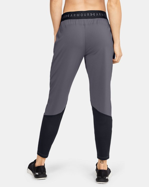 Women's UA Armour Sport Graphic Pants, Gray, pdpMainDesktop image number 2
