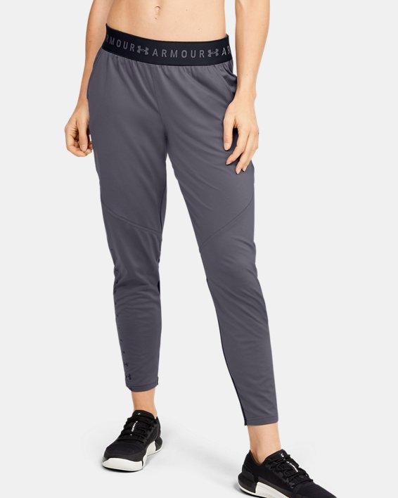 Women's UA Armour Sport Graphic Pants, Gray, pdpMainDesktop image number 0