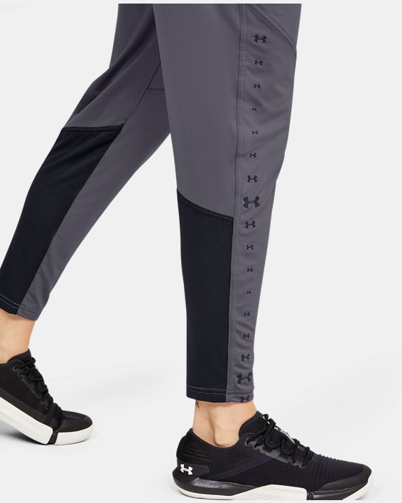 Women's UA Armour Sport Graphic Pants, Gray, pdpMainDesktop image number 3