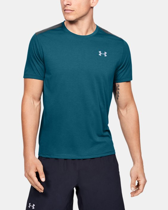 Men's UA Swyft Short Sleeve, Green, pdpMainDesktop image number 0