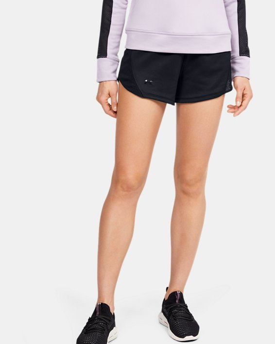 Women's UA Tech™ Terry Shorts, Black, pdpMainDesktop image number 1