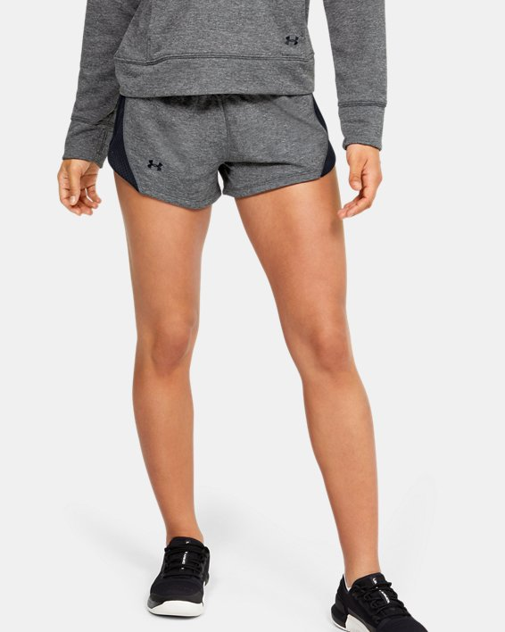 Women's UA Tech™ Terry Shorts, Gray, pdpMainDesktop image number 1