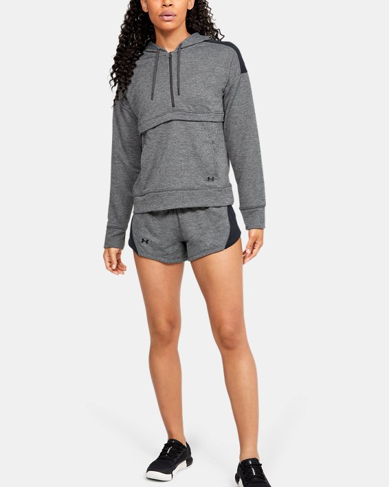 Women's UA Tech™ Terry Shorts, Gray, pdpMainDesktop image number 0