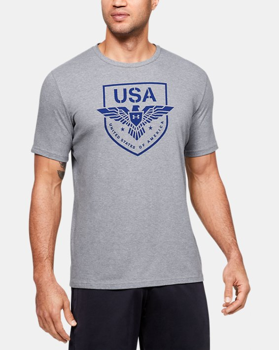 Men's UA USA Eagle T-Shirt, Gray, pdpMainDesktop image number 0