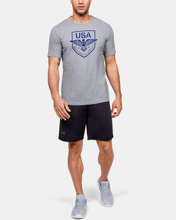 Men's UA USA Eagle T-Shirt, Gray, pdpMainDesktop image number 1